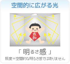 無電極ランプの特長 太陽光に近い自然な光【光の質】