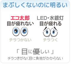無電極ランプの特長 まぶしくないのに明るい【目に優しい】