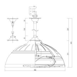 無電極ランプPJ150N図面1