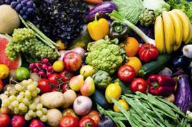 演色性の無い照明の食品の見え方