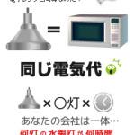 水銀灯は電子レンジと同じ電気代